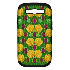 Roses Dancing On  Tulip Fields Forever Samsung Galaxy S Iii Hardshell Case (pc+silicone) by pepitasart