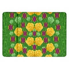 Roses Dancing On  Tulip Fields Forever Samsung Galaxy Tab 8 9  P7300 Flip Case by pepitasart