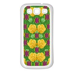 Roses Dancing On  Tulip Fields Forever Samsung Galaxy S3 Back Case (white) by pepitasart