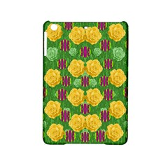 Roses Dancing On  Tulip Fields Forever Ipad Mini 2 Hardshell Cases by pepitasart