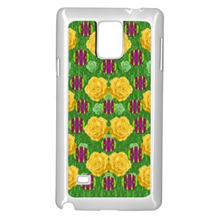 Roses Dancing On  Tulip Fields Forever Samsung Galaxy Note 4 Case (white) by pepitasart