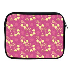Yellow Pink Cherries Apple Ipad 2/3/4 Zipper Cases by snowwhitegirl