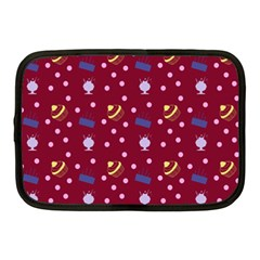 Cakes And Sundaes Red Netbook Case (medium)  by snowwhitegirl