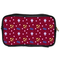 Cakes And Sundaes Red Toiletries Bags 2 Side by snowwhitegirl