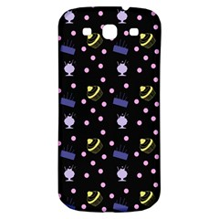 Cakes And Sundaes Black Samsung Galaxy S3 S Iii Classic Hardshell Back Case by snowwhitegirl