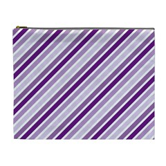 Violet Stripes Cosmetic Bag (xl) by snowwhitegirl