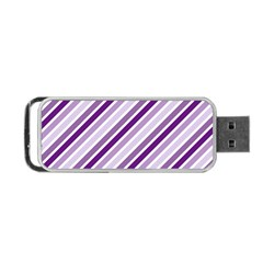 Violet Stripes Portable Usb Flash (two Sides) by snowwhitegirl