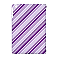 Violet Stripes Apple Ipad Mini Hardshell Case (compatible With Smart Cover) by snowwhitegirl