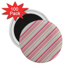 Candy Diagonal Lines 2 25  Magnets (100 Pack)  by snowwhitegirl