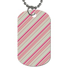 Candy Diagonal Lines Dog Tag (two Sides) by snowwhitegirl
