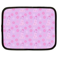 Lilac Dress Netbook Case (large) by snowwhitegirl