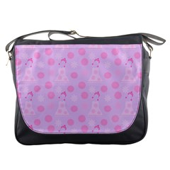 Lilac Dress Messenger Bags by snowwhitegirl