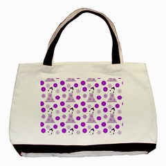 Lilac Dress On White Basic Tote Bag by snowwhitegirl