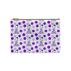 Lilac Dress On White Cosmetic Bag (medium)  by snowwhitegirl