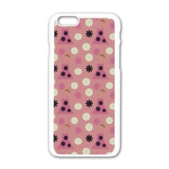 Mauve Dress Apple Iphone 6/6s White Enamel Case by snowwhitegirl