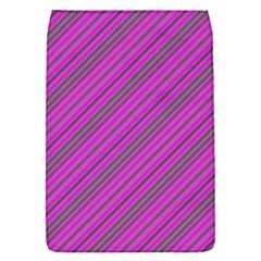 Pink Violet Diagonal Lines Flap Covers (s)  by snowwhitegirl