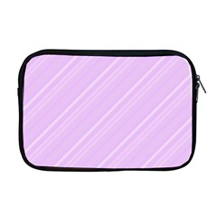 Lilac Diagonal Lines Apple Macbook Pro 17  Zipper Case by snowwhitegirl