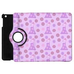 Violet Pink Flower Dress Apple Ipad Mini Flip 360 Case by snowwhitegirl