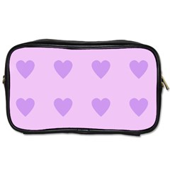 Violet Heart Toiletries Bags by snowwhitegirl