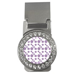 Violet Dots Money Clips (cz)  by snowwhitegirl