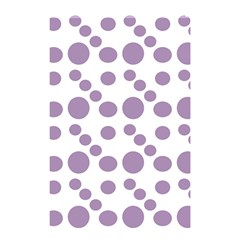 Violet Dots Shower Curtain 48  X 72  (small)  by snowwhitegirl