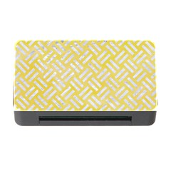 Woven2 White Marble & Yellow Watercolor Memory Card Reader With Cf by trendistuff