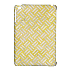 Woven2 White Marble & Yellow Watercolor Apple Ipad Mini Hardshell Case (compatible With Smart Cover) by trendistuff
