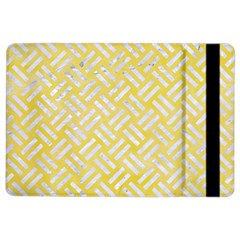 Woven2 White Marble & Yellow Watercolor Ipad Air 2 Flip by trendistuff
