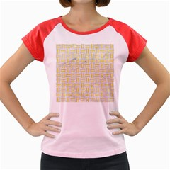 Woven1 White Marble & Yellow Watercolor (r) Women s Cap Sleeve T Shirt by trendistuff