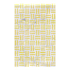 Woven1 White Marble & Yellow Watercolor (r) Shower Curtain 48  X 72  (small)  by trendistuff