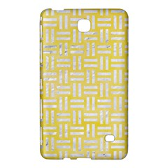 Woven1 White Marble & Yellow Watercolor Samsung Galaxy Tab 4 (8 ) Hardshell Case  by trendistuff