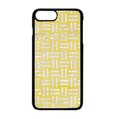 Woven1 White Marble & Yellow Watercolor Apple Iphone 8 Plus Seamless Case (black) by trendistuff