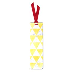 Triangle3 White Marble & Yellow Watercolor Small Book Marks by trendistuff