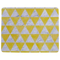 Triangle3 White Marble & Yellow Watercolor Jigsaw Puzzle Photo Stand (rectangular) by trendistuff