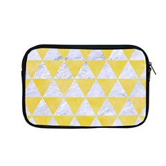 Triangle3 White Marble & Yellow Watercolor Apple Macbook Pro 13  Zipper Case by trendistuff