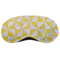 Triangle1 White Marble & Yellow Watercolor Sleeping Masks by trendistuff