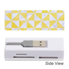 Triangle1 White Marble & Yellow Watercolor Memory Card Reader (stick)  by trendistuff