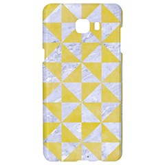 Triangle1 White Marble & Yellow Watercolor Samsung C9 Pro Hardshell Case  by trendistuff