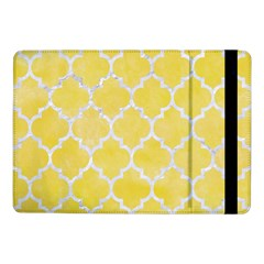 Tile1 White Marble & Yellow Watercolortile1 White Marble & Yellow Watercolor Samsung Galaxy Tab Pro 10 1  Flip Case by trendistuff