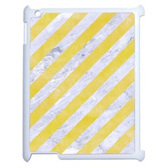Stripes3 White Marble & Yellow Watercolor (r) Apple Ipad 2 Case (white) by trendistuff