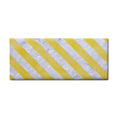 Stripes3 White Marble & Yellow Watercolor Cosmetic Storage Cases by trendistuff