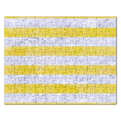 Stripes2white Marble & Yellow Watercolor Rectangular Jigsaw Puzzl by trendistuff