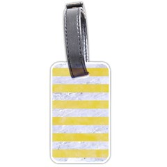 Stripes2white Marble & Yellow Watercolor Luggage Tags (two Sides) by trendistuff