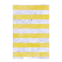 Stripes2white Marble & Yellow Watercolor Shower Curtain 48  X 72  (small)  by trendistuff