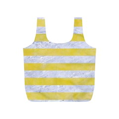 Stripes2white Marble & Yellow Watercolor Full Print Recycle Bags (s)  by trendistuff