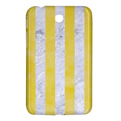 Stripes1 White Marble & Yellow Watercolor Samsung Galaxy Tab 3 (7 ) P3200 Hardshell Case  by trendistuff