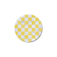 Square1 White Marble & Yellow Watercolor Golf Ball Marker (10 Pack) by trendistuff