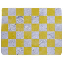 Square1 White Marble & Yellow Watercolor Jigsaw Puzzle Photo Stand (rectangular) by trendistuff