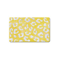 Skin5 White Marble & Yellow Watercolor (r) Magnet (name Card) by trendistuff