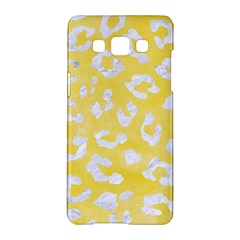 Skin5 White Marble & Yellow Watercolor (r) Samsung Galaxy A5 Hardshell Case  by trendistuff